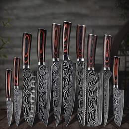 Venta al por mayor de Cuchillos de cocina Set Chef Cuchillo Alto Carbono Acero inoxidable Santoku Cuchillo Sharp Cleaver Cuchillo de corte Cuchillo Mejor opción para la cocina