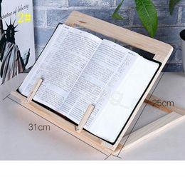 Toptan satış Ahşap Kitap Standı Tutucu Ayarlanabilir Taşınabilir Ahşap Bookstand Laptop Tablet Çalışma Aşçı Tarif Kitap Standları Masası Çekmece Organizatörler CYF4581