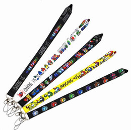 Wholesale lanyards resale online - Among Us Game Keychain Straps Rope Cell Phone Neck Strap Lanyard for ID Card Key Chain DIY Lanyards Hanging Rope Party Gift