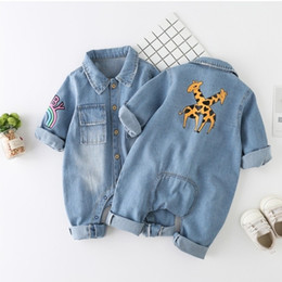 spring baby clothing Australia - Newborn Baby Romper Spring Denim Jumpsuit Baby Girls Clothes Unisex Baby Clothes Kids Costume For Boys Clothes 0 3 6 12 24 Month 201028