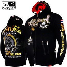 Wholesale mma sweatshirts hoodies resale online - Vszap Warm Winter Hoodie Tracksuits Fight Mma Gym Tee Shirt Fitness Sport Men Boxing Fighting Sweatshirts Muay Thai