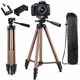 Wholesale mobile camera stands resale online - Camera Tripod For Phone Tripod For Camera Holder For Phone Cellphone Mobile Smartphone Canon Dslr Projector Mount Stand Monopod Y1117