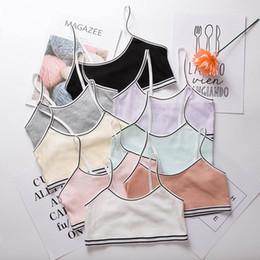 Girls Students Thin Training Bras Young Girl Wire Free Adjustment Bra Kids Intimates Children Underwear on Sale