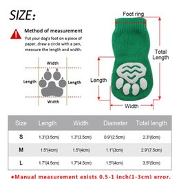Wholesale 4pcs Cute Dog Socks Shoes Pets Knit Socks Autumn Winter Small Dogs Cat Shoes Chihuahua Boots Anti Slip Skid Bottom Pet jllcbr