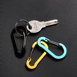 5 stks Multi-Use Aluminium Legering Karabijner Camping Klimmen Veiligheid Gesp Booms Vissen Haak Snap Clip Sleutelhanger Outdoor Tools Q BBYQRN
