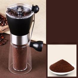 Großhandel Kaffeemühle Manuelle Keramik Kaffeemühle Waschbare ABS Keramische Kern Edelstahl Home Küche Mini Handbuch Kaffeemaschine Meer BWC5228