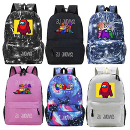 Wholesale hot anime girls resale online - Hot Game Among Us Backpack Cartoon School Bags for Teens Girls Boys Kids Anime Knapsack Men Women Travel Rucksack Mochila Gift