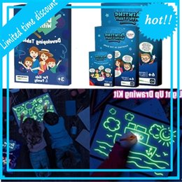Wholesale Drawing Luminous Children's Glowing Magic Graffiti Painting Board Draw with Light Fun