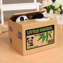 panda money box 2021 - Panda Thief Boxes Toy Piggy Banks Animal Automatic Stole Coin Piggy Bank Money Saving Box Safe Funny Children Gift Decor