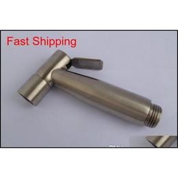 Wholesale Bathroom 304 Stainless Steel Bidet Mist Sprayer Nozzle Toilet Shattaf Cleaning Rinse Shower Head Gun Wash Floor Washi qylQgk bdenet