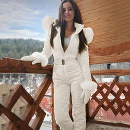 70#Women One Piece Ski Jumpsuit Breathable Snowboard Jacket Skiing Pant Sets Bodysuits Outdoor Snow Suits Women Zipper Ski Suit on Sale