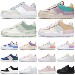 ingrosso pallido-force af1 Force One uomo donna scarpe da corsa tipo ombra Para noise nero Summit White Mystic Navy Pale air Ivory uomo trainer sneaker sportive moda