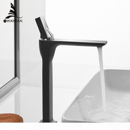 vintage faucet handles Australia - Basin Faucet Retro Black Faucet Taps Bathroom Sink Faucet Single Handle Hole Deck Vintage Wash Hot Cold Mixer Tap Crane 855003 T200608