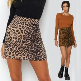 ingrosso abbigliamento hop anca sexy-Designer Fashion Suede Tessuto Leopardo Gonne invernali autunno Autunno Skinny Tight Skirt Dress Sexy Hip Hop Trendy Party Club Boutique Ploth LY120701