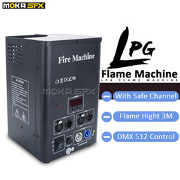 stage fire light 2021 - LPG Flame Machines Stage Fire Effects Jet 2M DMX Flame Thrower for Mobile Sound Light Events LPG Fire Machine