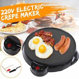 Elektrikli Krep Makinesi Pizza Krep Makinesi Yapışmaz Kalbur Pişirme Pan Kek Makinesi Mutfak Pişirme Araçları 220 V Mutfak Aracı