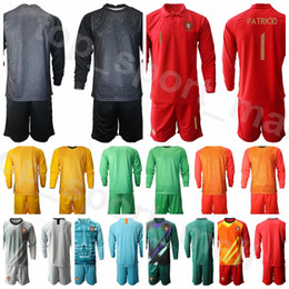 y t shirts NZ - National Team Goalkeeper GK Soccer 1 Rui Patricio Long Sleeve Goalie Jersey Set Goalie 12 Anthony Lopes Football Shirt Kits Uniform P-T-Y