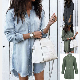ingrosso camicie in denim delle donne-3033 New Women s Fashion TAXEL Denim Shirt