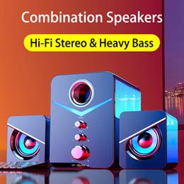 venda por atacado Aux com fio Bluetooth Bluetooth Combinação Computador Computador Home Theater System Music Player Subwoofer PC Caixa de som para laptop