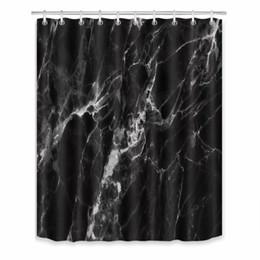 Marbre Abstrait Pierre Coloré Rock textures Rideau de douche Set Tissu Polyester