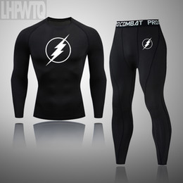 flash t shirt designer 2021 - the Flash Men Training Suit Gym Fitness Compression T-shirt Pack Clothing Running Set Jogging Sport Thermal Underwear Panty