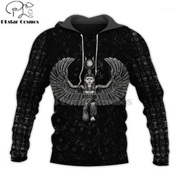 totem hoodie Australia - Mysterious retro ancient Horus Egypt goddess Pharaoh totem 3d hoodies Sweatshirt Winter autumn funny long sleeve streetwear-101