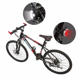 Wholesale New rechargeable LED bicycle lights front and tail set 4 modes rechargeable night lights Waterproof silicone bicycle light with red light