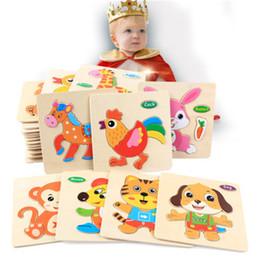24 stylestddler brinquedo crianças cute animal quebra-cabeças de madeira 15 * 15 cm bebê bebê colorido madeira jigsaw inteligência brinquedos animais veículos para 1-6t em Promoção