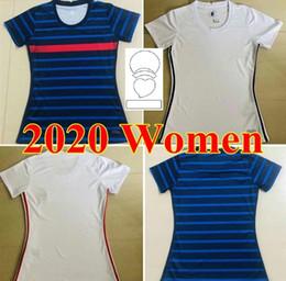 venda por atacado 2020 Home Away Kits França Futebol Jerseys 20 21 MBappe Griezmann Meninas Jersey Uniformes Pogba Ndombele Kante Camisa de Futebol