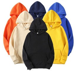 Wholesale plus size hoodies sweatshirts for sale - Group buy 2020 Fashion women hoodie Spring Autumn Male Casual Hoodies Sweatshirts Men s Solid Color Hoodies Sweatshirt Tops Plus Size S XXXL