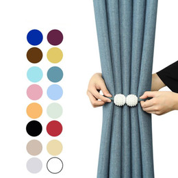 Wholesale Magnetic Ball Curtain Clip Pearl No Drilling Cord Installation Free Window Curtains Buckle Multi Colors Attraction Rope New 1 2zc O2