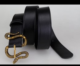 Mens Woman Belt Snake Belts with Letter Casual Buckle Belt Width 3.8cm Highly Quality Cowhide