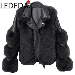 Wholesale ladies sheepskin coats jackets for sale - Group buy Autumn Winter Coats Women Faux Sheepskin Leather Jacket Fluffy Teddy Coat Thick Warm Fur Fashion Lady Motor Biker Jacket