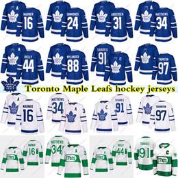 Toronto Maple Leafs jersey 91 John Tavares 16 Mitch Marner 34 Auston Matthew 97 Thornton 24 Simmonds 88 nylander 44 rielly Hockey Jerseys on Sale