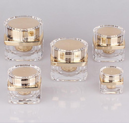 5g 10g 20g 30g 50g Top Grade Clear Acrylic Empty Bottle jar Eye Gel Lipstick Sample Empty Cosmetic Containers