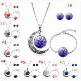 Wholesale dragons for sale - Group buy Hot Selling Power Game Dragon Egg Signs Glass Cabochon Necklace Bracelet Earrings Women Jewelry Set Birthday Gifts