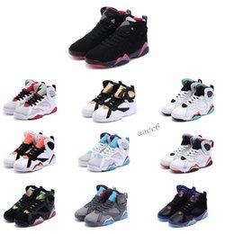 Wholesale kids jordan shoe resale online - 2020 New Kids s Basketball Shoes Sneakers Children Boys Girls Baby Toddler Nakeskin Jordan Athletic Sports Shoes Size
