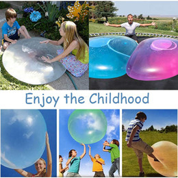 wholesales inflatable dolls NZ - XMY Balloon Inflatable Magic Up Soft Gift Blow Water Bubble Filled Ball Air Outdoor Kids Toy Fun Party Game Aaerp