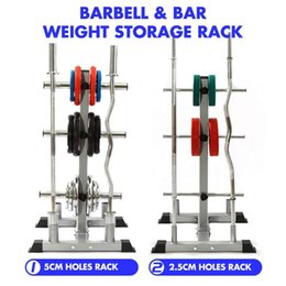 Discount lift stands Weight Lifting Dumbbell Bracket Barbell Stand Weight Plate Storage Rack Barbell Bar Organizer Holder Home Gym Fitness Equipment