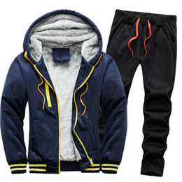 épaissir les vêtements de sport achat en gros de-news_sitemap_homeHiver Homme Épaisir Warm Tracksuit Set Solid Fil Fil Casual Speewear Cardigan Sweat shirt de Taille Plus