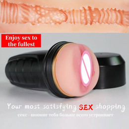 fake vagina men Canada - Sex toy male masturbator cup pussy vagina real artificial pocket pussy fake girls erotic adult realistic sex tools for men pussy 201212