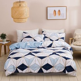 quilts for twin size beds Australia - Comforter Cover Set US King Size dekbedovertrek Geometric Pattern Stitching Bedding Set For Adult Children Quilts Cover