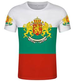 Wholesale t shirt customization online – design Bulgarian t shirt custom country bidding custom D t shirt flag jersey team uniform T shirt free customization