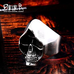 Wholesale sorcerer for sale - Group buy Beier new store L Stainless Steel Vintage Sorcerer Skull Design Men s Ring Gothic Fashion High Quality Jewelry LLBR8 R