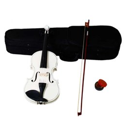 Acoustic Violin 4 4 Full Size with Case and Bow Rosin Set 4 Strings Black for Students Musical Instruments Free Shipping