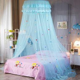 Gray Aramox Cama con Dosel para Ni/ños,Beb/é Kids Round Dome Bed Canopy mosquitera Cubierta hogar decoraci/ón del Dormitorio