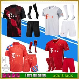 Wholesale uniform green resale online - 20 LEWANDOWSKI soccer Jerseys kits maillots de footbal SANÉ KIMMICH HERNÁNDEZ third football shirt kit uniforms