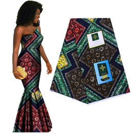 Wholesale real material cotton resale online - 100 cotton Ankara African printed fabric guaranteed real wax Africa cloth high quality sewing material for party dress craft T200529