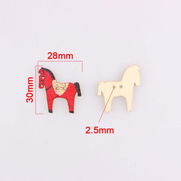horses children clothing 2020 - Multicolor Horse 2hole Wooden Mixed Buttons Christmas Diy Decor Child Clothes Sewing Buttons Crafts Scrapbooking Decorat