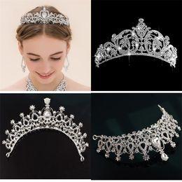 venda por atacado Nova festa de casamento jóias cristais de nupcial tiaras para mulheres engajamento tiara coroa headband acessórios de cabelo moda jóias de luxo 82 m2